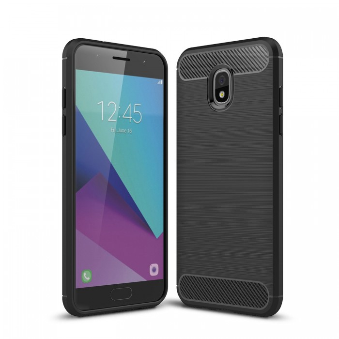 Bakeey Carbon Fiber Heat Dissipation Soft TPU Protective Case for Samsung Galaxy J7 2018 US Version