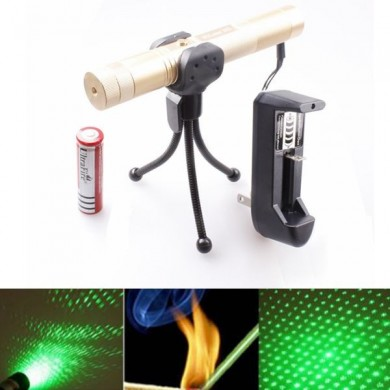 LT-0670 Adjustable Focus 532nm 5mw Green Laser Pointer Suit