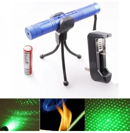 LT-0671 Adjustable Focus 532nm 5mw Green Laser Pointer Suit