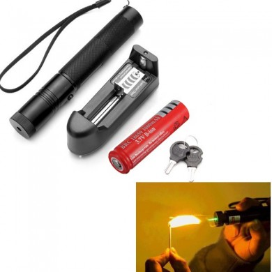 Burning Laser 301 Green Laser Pointer High Power Laser Suit 5mw