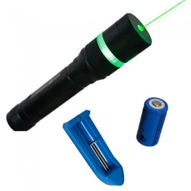 LT-HJA85 532nm Zoomable Green Laser Pointer Suit 5mw 1x16340