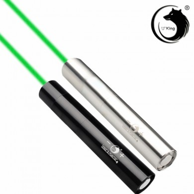 U King ZQ-J10L Sliver 520nm Green Light Powerful Laser Flashlight Suit US Charger