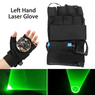 532nm Rechargeable Green Laser Gloves Swirl Effect Stage Lighting For Left Hand