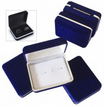 Velvet Earring Ring Cufflink Cuff Links Jewelry Packing Caixa