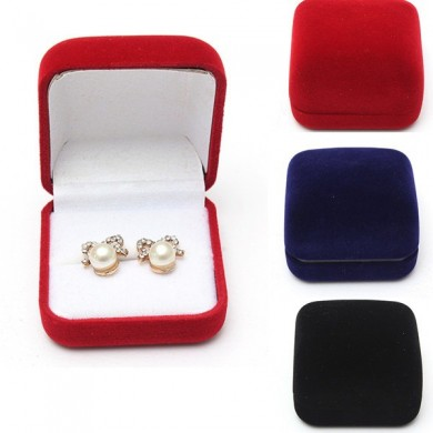 Velvet Stud Earring Ring Jewelry Box Jewelry Display Gift Box