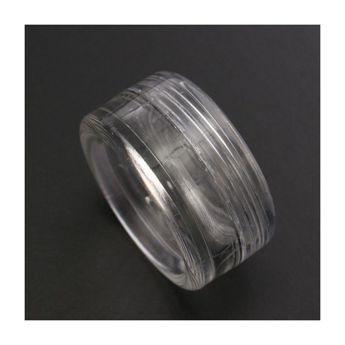 50Pcs Clear Plastic Round Loose Bead Storage Containers Bottles