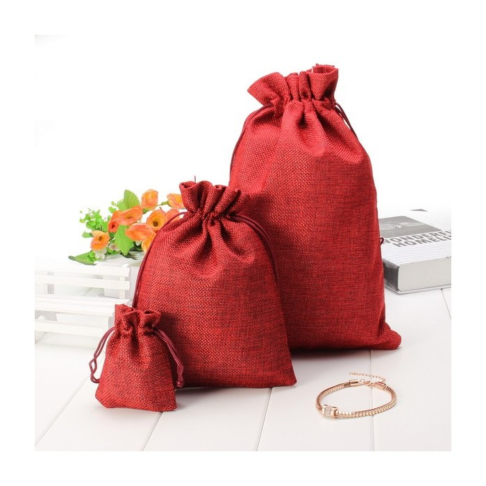 5pcs Multi Colors Vintage Linen Gift Bags Wedding Party Birthday Gift Bags Chocolate Pouch