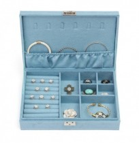 Eerrings Necklace Ring Jewelry Collection Box Bags Case Grid Box