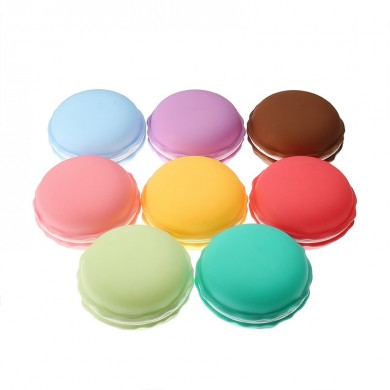 Candy Color Jewelry Caixa Multicolor Vivid Cake Shape Portable Ring Brincos Armazenamento Caixa Presente Caso