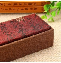 Vintage Tassel Jewelry Storage Box Chinese Style Wood Linen Necklace Bracelet Pendant Display Case