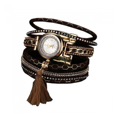 DUOYA Fashion Women Bracelet Watch Retro Tassel Decoration Ladies Dress Watch