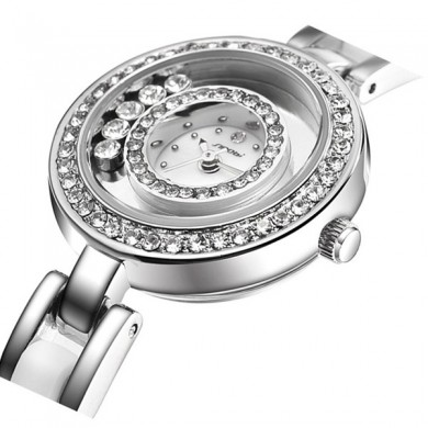SINOBI 9526 Luxury Ladies Women Watch Fashion Diamond Case Elegant Bracelet Watch