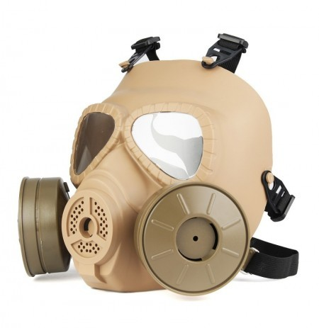 1PC Gas Mask Full-covered Perspiration Double Filter Fans Dust Face Guard Helmet