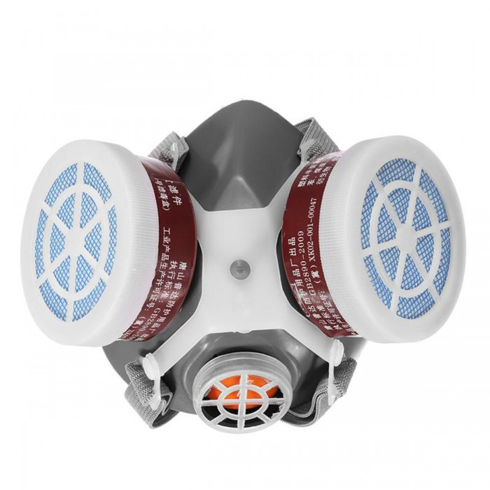 Safety Respiratory Gas Mask Half Face Dual Protection Filter Chemical Anti-Dust