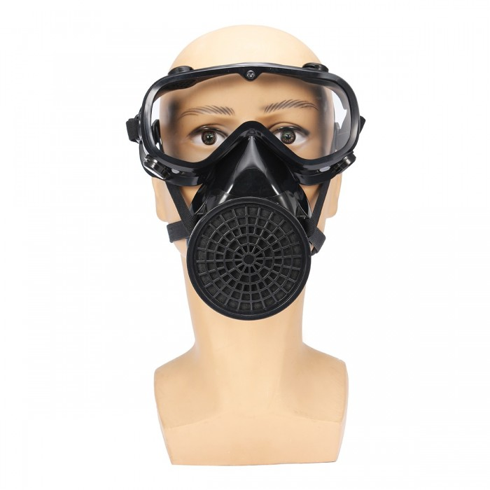 Protective Mask Dust Face Facepiece Chemical Respirator Full Breath Gas Filter