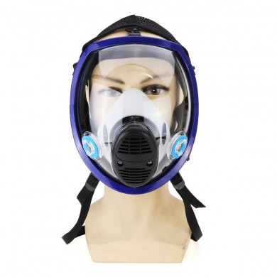 Full Face Gas Mask Silicone Facepiece Respirator Painting Spraying for 3M 6800