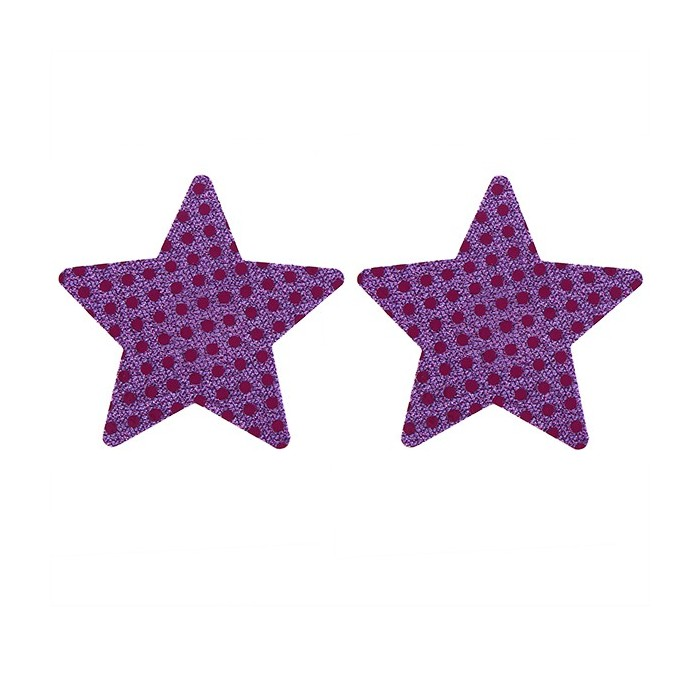 Sexy Paillette estrella de cinco puntas Desechable Backless sin tirantes Invisible Sticker
