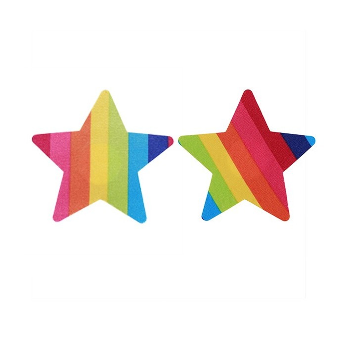 Sexy Rainbow Multi Shape Colors Doublure sans bretelles Invisible Nipple Sticky Bras