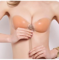 Sexy Front Closure Push Up Autocollant Latex Silicone Invisible Strapless Dress Nu Bra