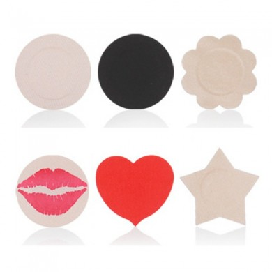 5 Pair Sexy Disposable Sticker Multi Shapes Strapless Backless Anti Exposure Bra Sticker