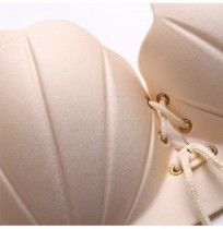 Gather Plunge Shell Shape Sticky Invisible Women Bra