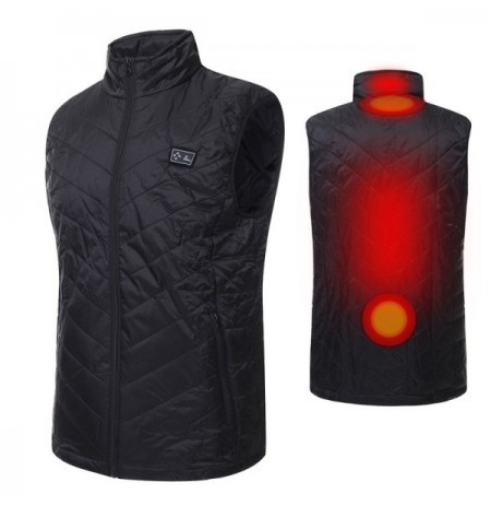 Electric Heated Vest USB Power Supply Warm Massage Waterproof Riding Coat S/M/L/XL