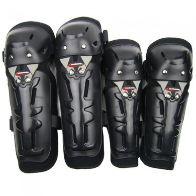 Motorcycle Motor Cycling Off Road Knee Elbow Guards Pads Black