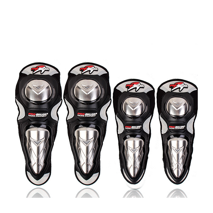 HX-P19 Motorcycle Stainless Armor Racing Protective Elbow Knee Pads