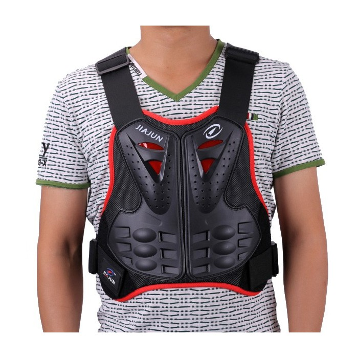 Motorcycle Protective Shell Armor Riding Gears Dirt Bike Body Vest S M L Jacket Body Gears Black Red Green