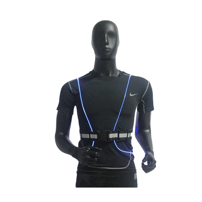 LED Fiber Reflective Vest Night Ciclismo Running Outdoor Safety Sports Clothes
