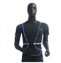LED Fiber Reflective Vest Night Cycling Running Outdoor Safety Sports Clothes
