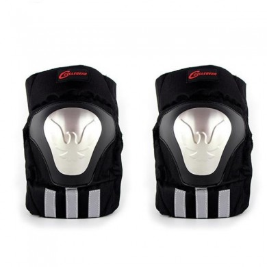 Motorcycle Racing Gear Black Protective Knee K13 Stainless Steel Protector