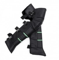 Motorcycle Warm Kneepads PU Leather Scooter Knee Pads Thicken Villus Winter Windproof