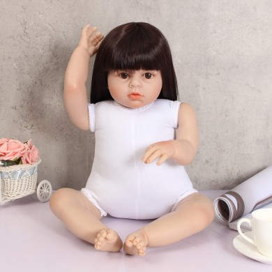28'' Handmade Lifelike Reborn Doll Girl Silicone Vinyl Newborn Dolls Cloth Toys