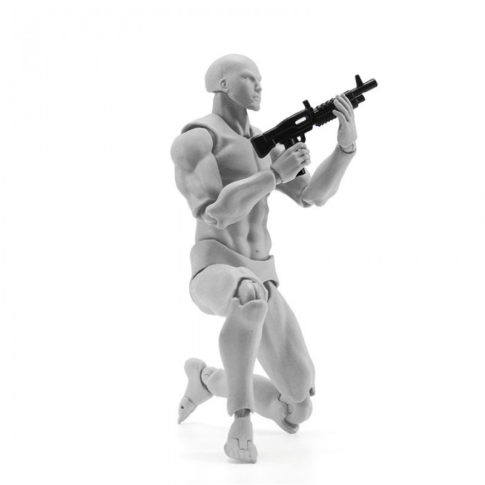 Figma Archetype Action Figure 2.0 Body Male Grey Color Model Doll For Decoration