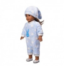 Dolls Pajamas Sleeping Clothes Fit For Doll Jumpsuit Suit With Cute Hat 18inch Kids Birthday Gift