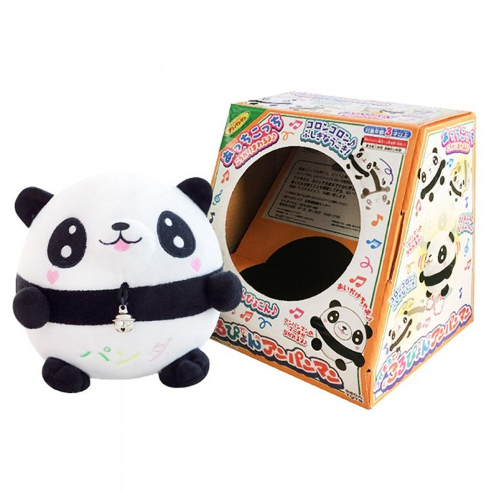 Jumping Springback Ball Stuffed Panda Doll Animal Musical Tumbler Toy With Packing