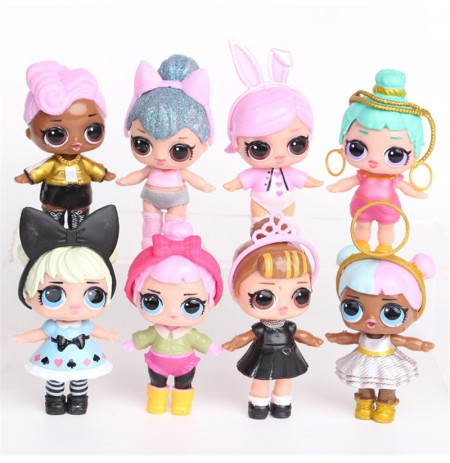 8PCS Surprise Doll Hand Doll Cute Girls Gift Collection With Spray Water Function