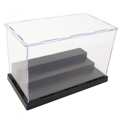 22 cm L Acrílico Display Caixa Perspex Caso Base de Plástico 3 Passos Dustproof Para Action Figure