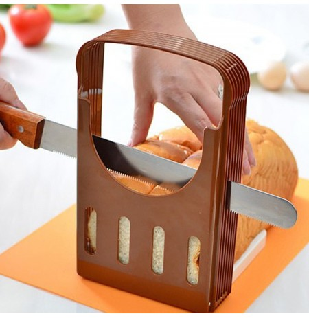 Bread Cut Loaf Toast Slicer Cutter Slicing Guide Kitchen Tool