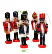 6pcs Wooden Nutcracker Puppet Decorations Handcraft Gifts Home Display