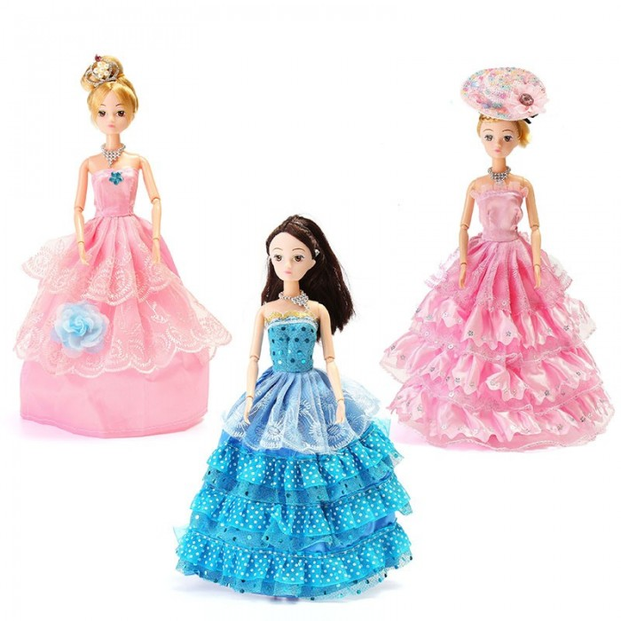 Dress Up Doll Set Gift Box Princess Wedding Dress Every Family Child Toys