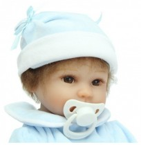 16 pouces Reborn Baby DOLL Princess Dress Silicone souple Bonhomme réaliste Baby Handmade Newborn Dolls Toy