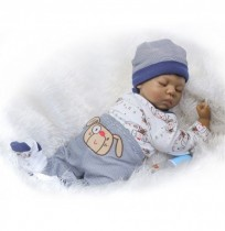 NPK Collection 20inch Soft Silicone Limbs Cloth Body Reborn Dolls Lifelike Sleeping Baby Toy