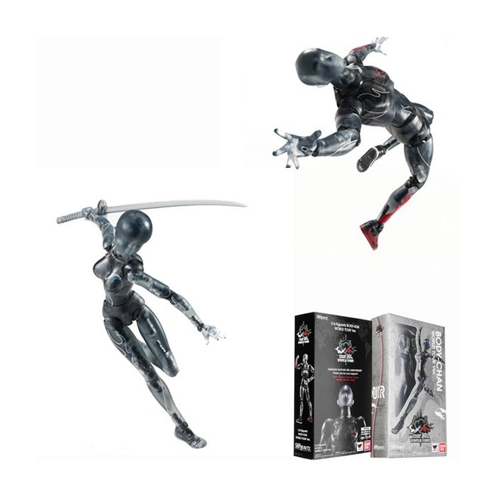 Figma Black Doll Man Action Figure Figma Archetype Doll PVC Movable Hand Model Doll Toy