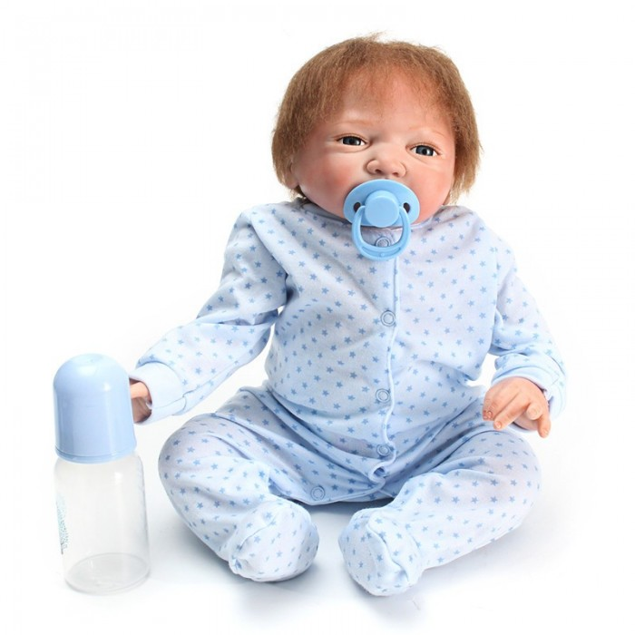 Silicone Soft Realistic Reborn Baby Doll 22 Pollici Lifelike Girl neonato BB Tessuto Body Toy