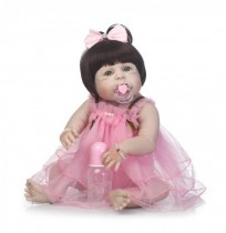 NPK 23inch Soft Cloth Body Silicone Reborn Baby Lifelike Baby Dolls  Bebe Alive Doll Christmas Gifts