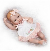 NPK 26cm Lovely Soft Full Silicone Con incolla Capelli Can Wash Silicone Reborn Baby Doll