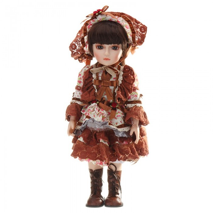 NPK 45cm BJD Boneca 1/4 Cute Ball Joint Boneca Vestido Girl Handmade Lifelike Baby PlayHouse Toy Collection