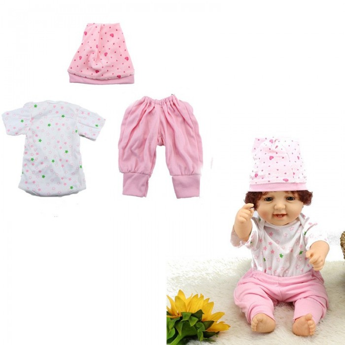 NPKDOLL 55cm Reborn Baby Doll Clothes Accessories Toy Without Reborn Baby Doll
